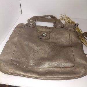 Marc Jacobs purse crossbody gold leather